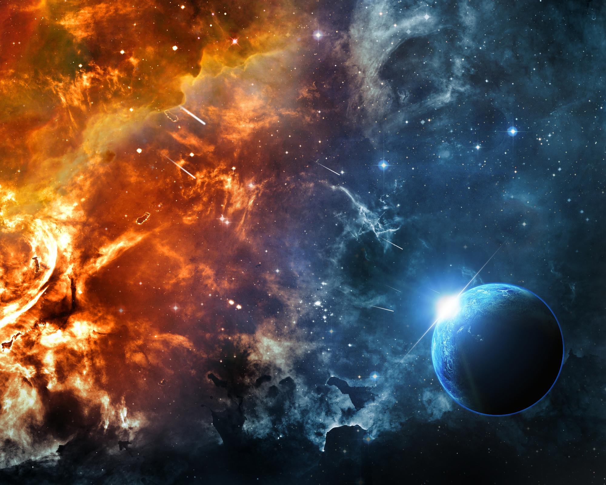 Обои Планета солнце туманность картинки на рабочий стол на тему Космос - скачать без смс
