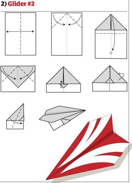 Как делать из бумаги самолет своими руками 156