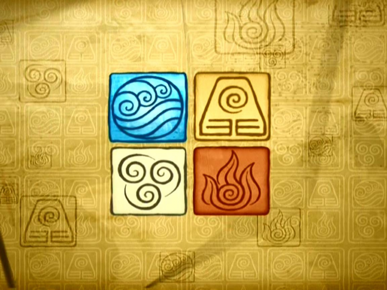 The Five Element Symbols of Fire Water Air Earth Spirit
