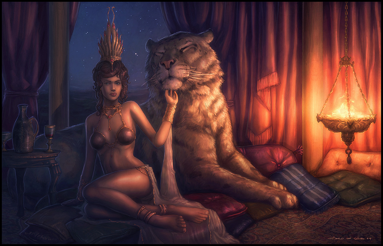 Erotic mythical fantasy art sex pic