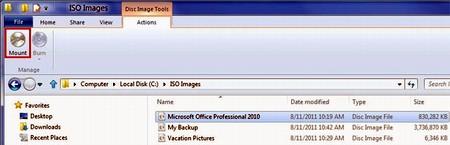 В Windows 8 будет встроенная поддержка ISO и VHD