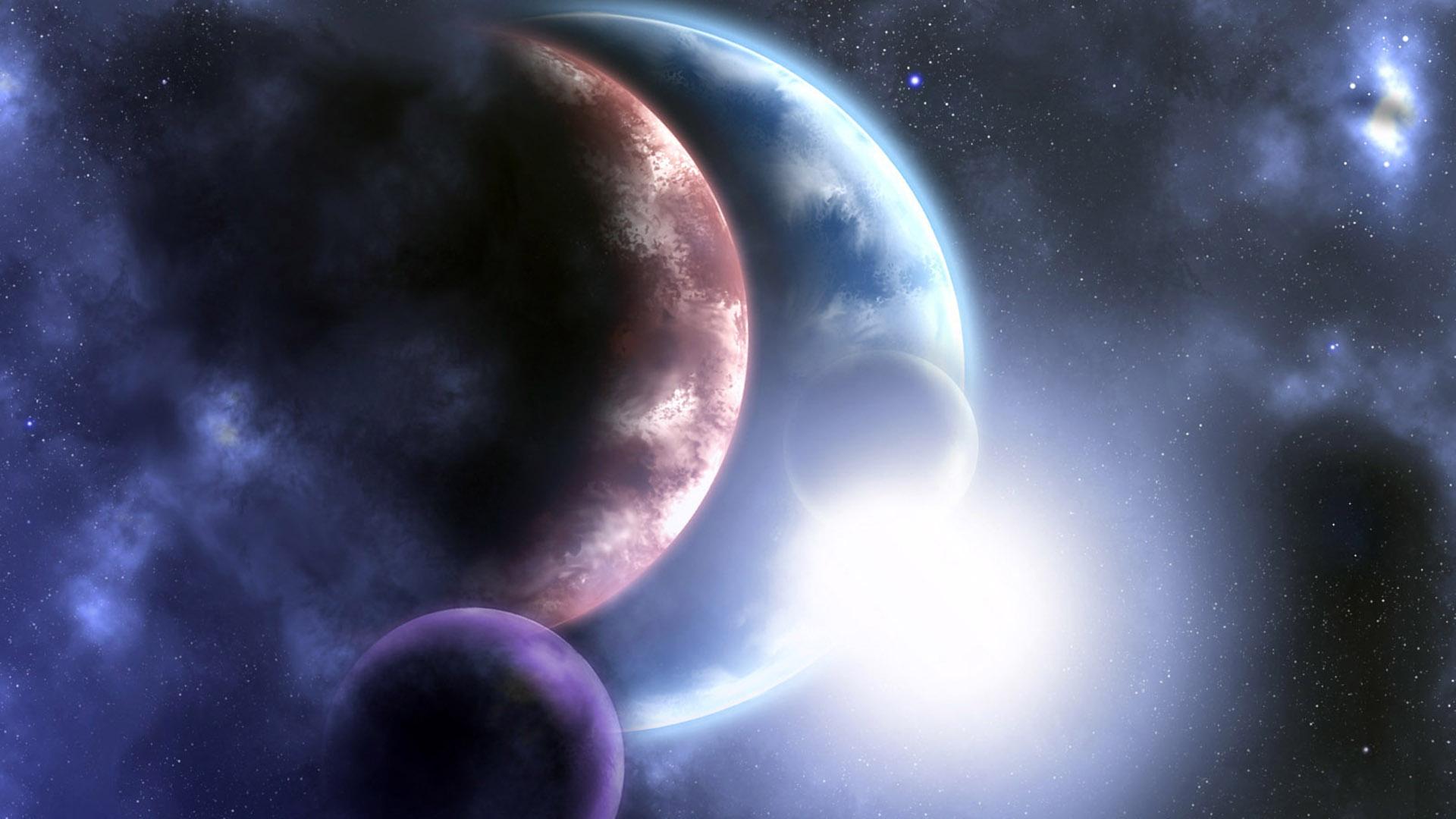Обои планета вселенная картинки на рабочий стол на тему Космос - скачать загрузить