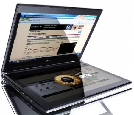 Acer Iconia с двумя тачскринами