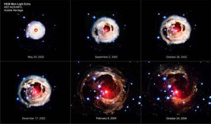 Телескоп Хаббл снял самый красивый взрыв звезды в галактике