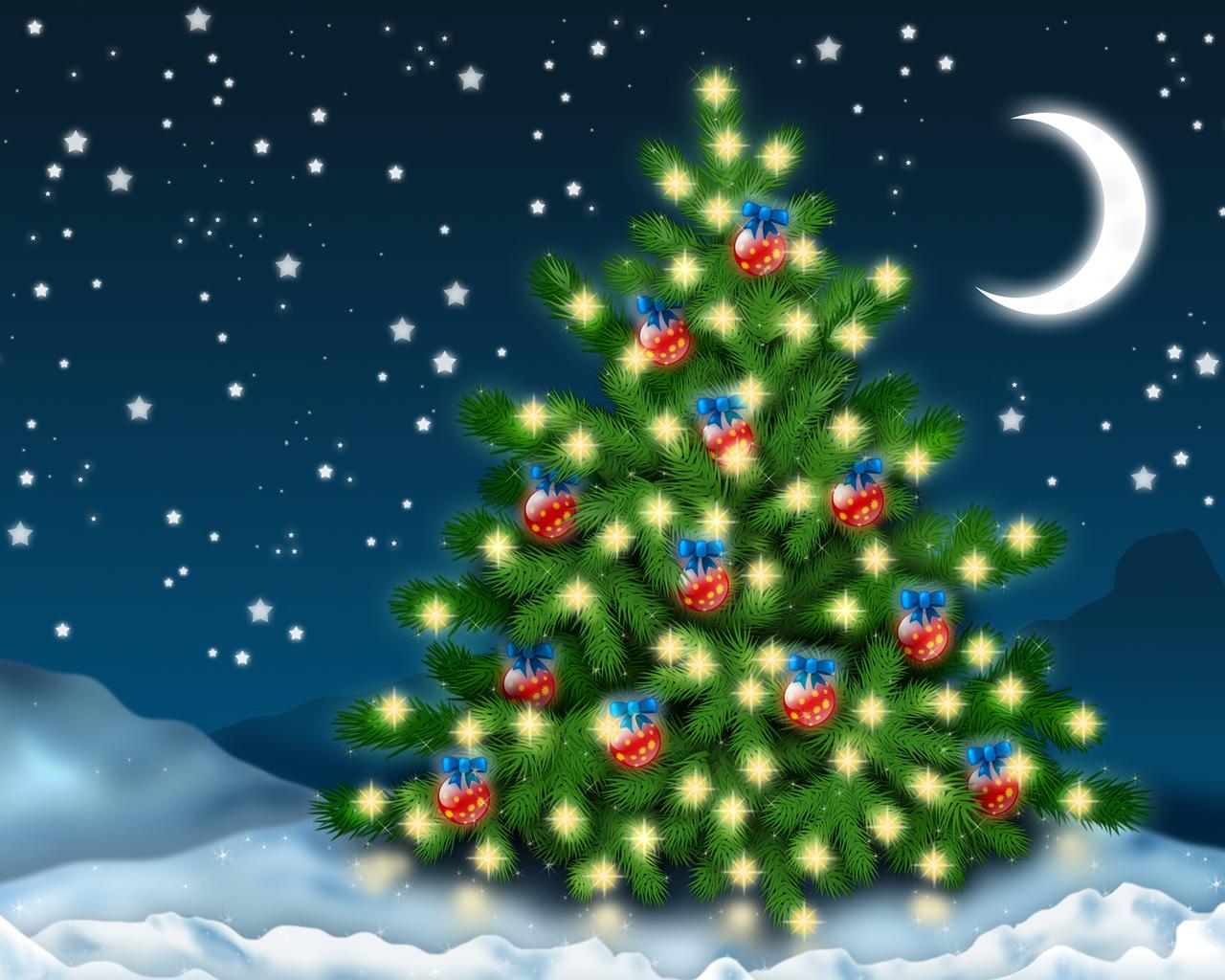 Картинки с новым годом с елкой и дедом морозом