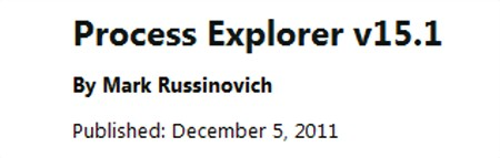 Process Explorer 15.1