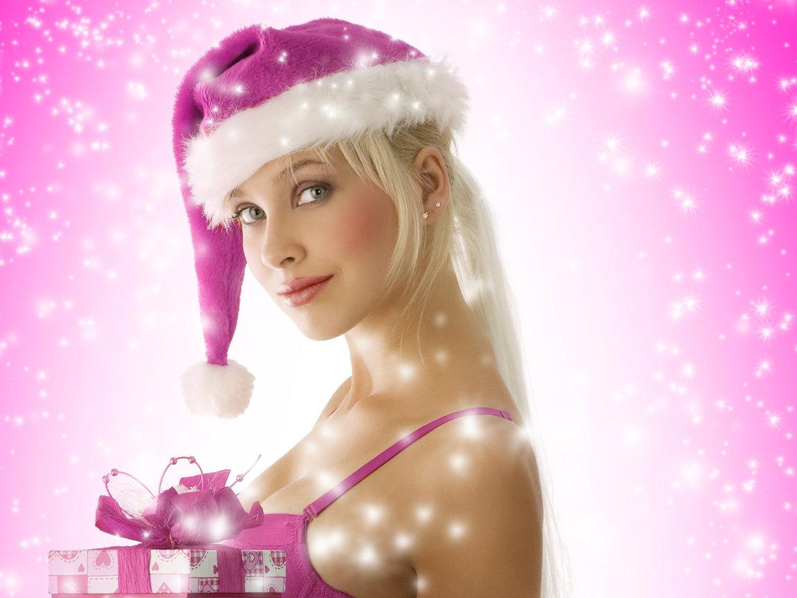новогодние голые девушки для рабочего стола