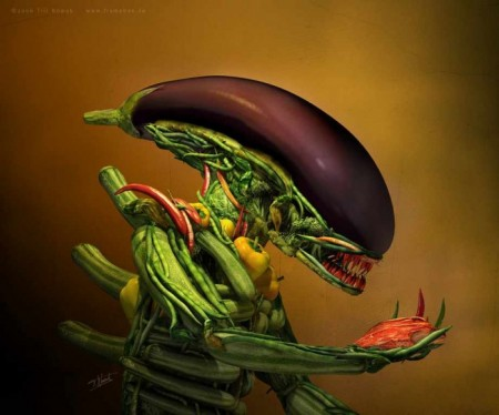 вот такой он овощ - ксеноморф