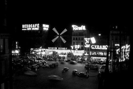 Ночной Париж 50х