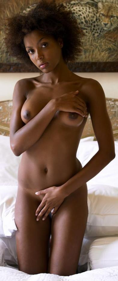 Неплохая эротическая фотосессия одной негритянки