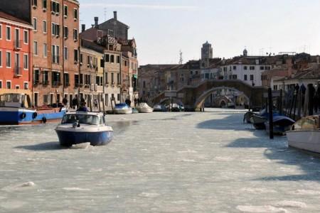 замёрзшие каналы Венеции