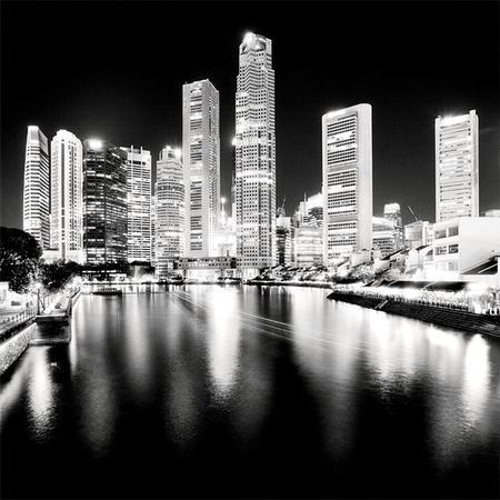 Ночной пейзаж больших городов