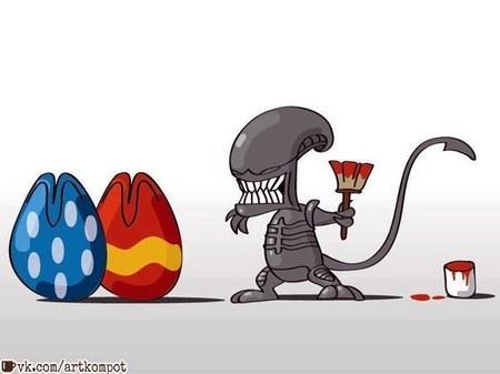 Креативные яйца
