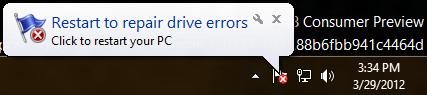 Новая утилита chkdsk в Windows 8