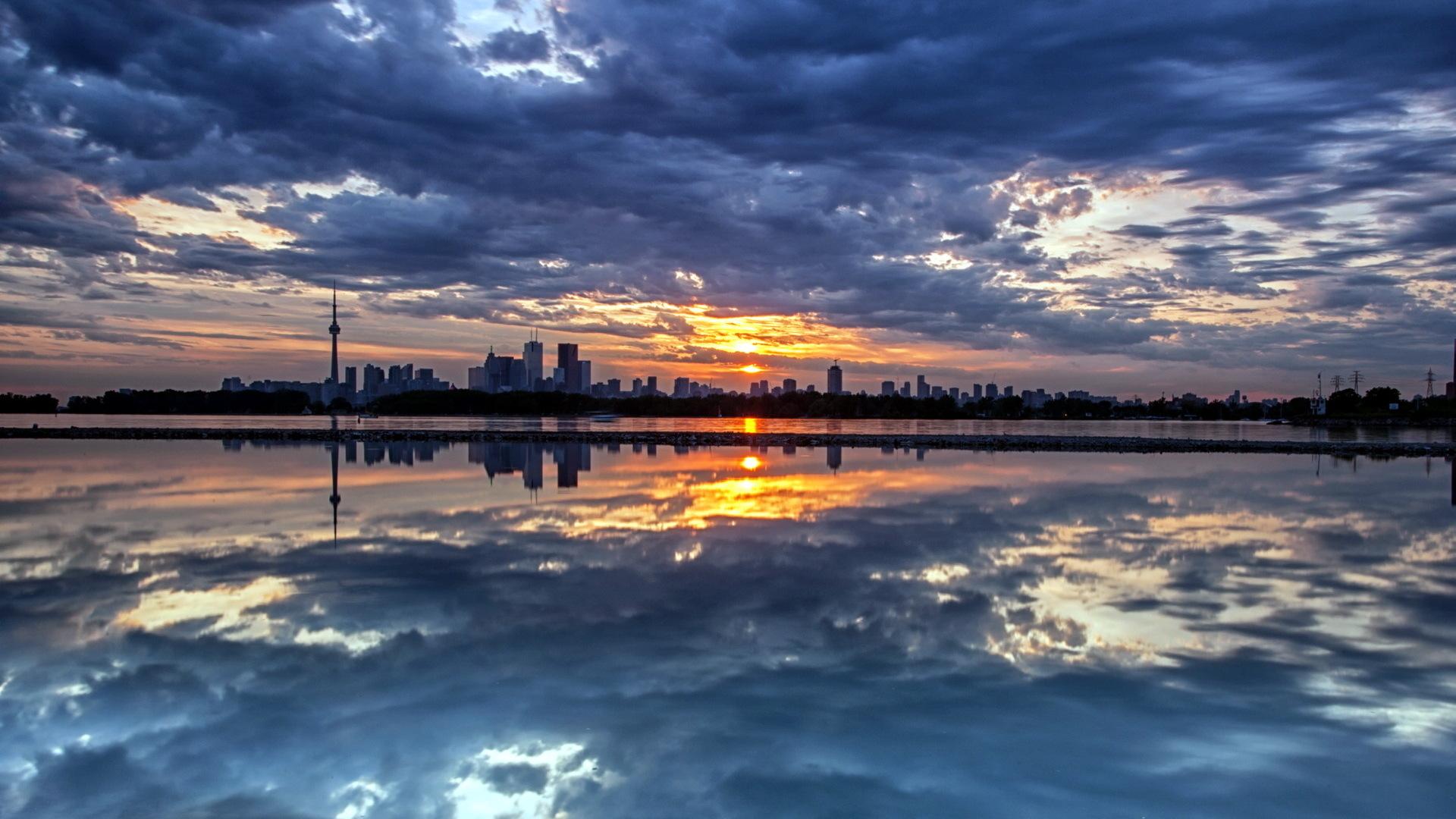 Город ночь небо  № 3705720  скачать