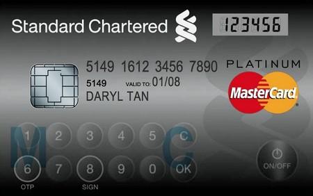 MasterCard выпустил пластиковую карту с дисплеем