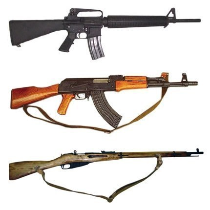 M16 vs АК-47 vs Трехлинейка