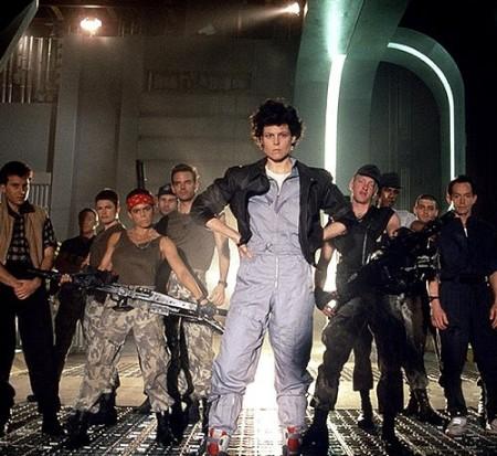 Aliens (Чужой). Фотографии со съемок фильма.