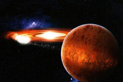 Полярное сияние вне Солнечной системы