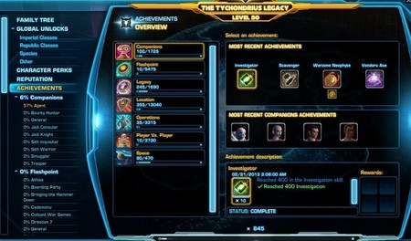 Legacy Achievements