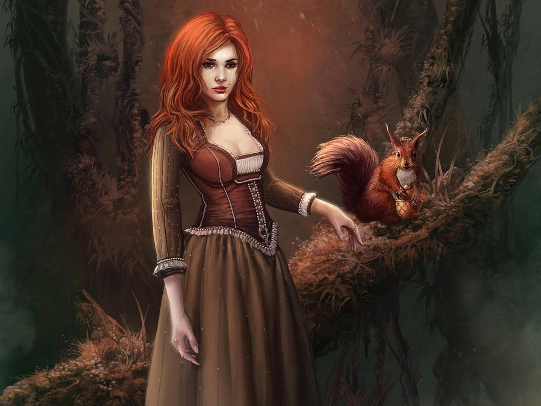 Redhead fantasy art erotic movie