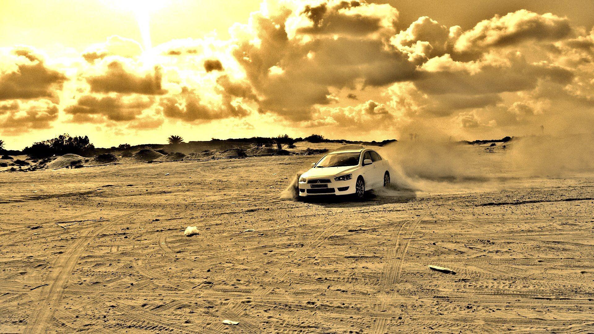 Audi песок дорога  № 2442022  скачать