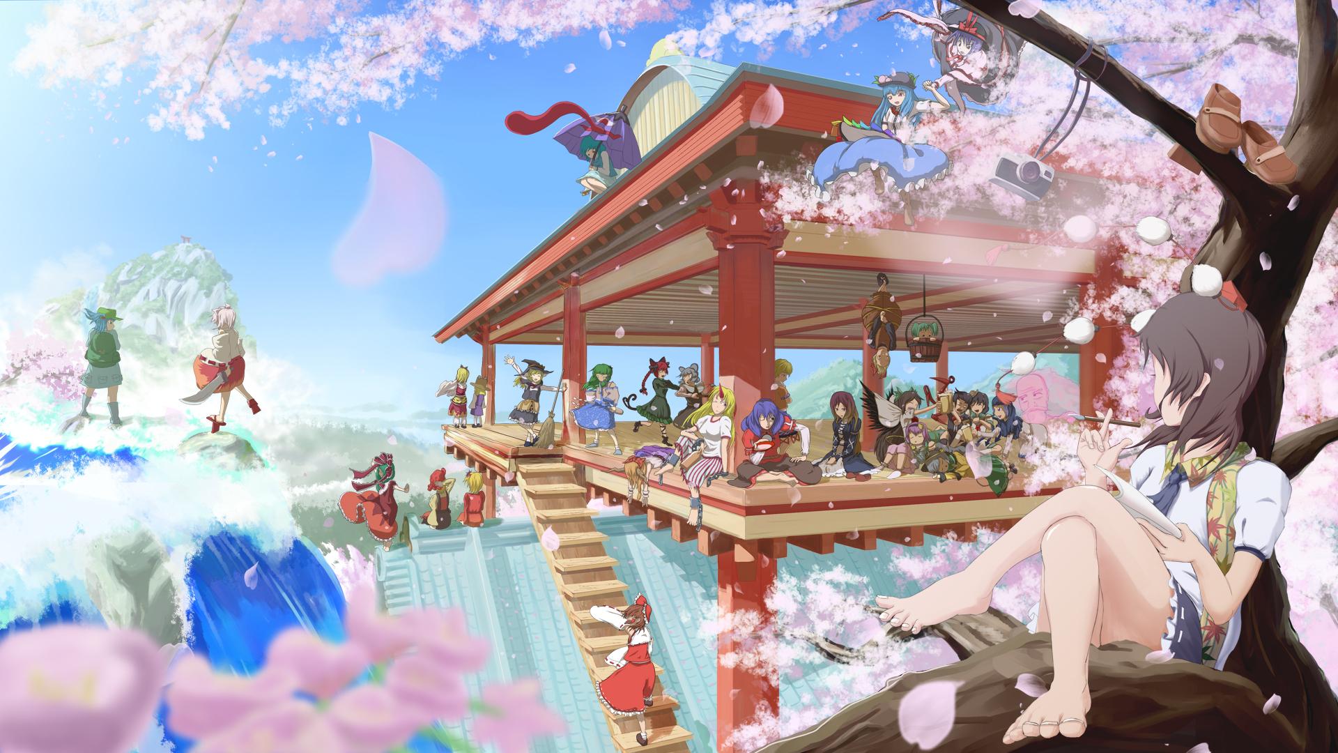 Девушка на балконе японское аниме  № 3866765 бесплатно