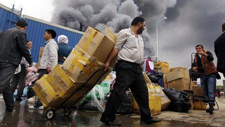 Пожар в Татарстане на ярмарочном комплексе