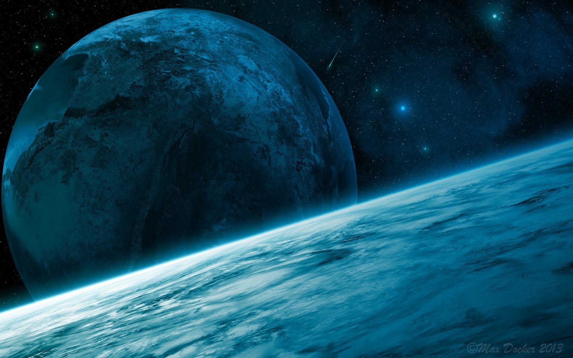 Обои Скалы планеты вода звезда картинки на рабочий стол на тему Космос - скачать  № 3553883 бесплатно