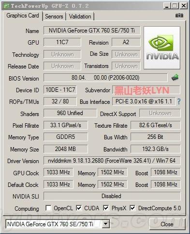 GeForce GTX 750 Ti?