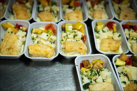 Как готовят самолетную еду