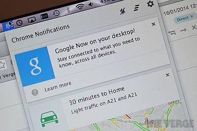 Google Now появился в Chrome