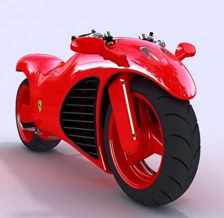 концепт мотоцикла Ferrari