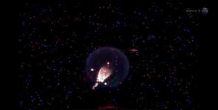 На МКС создали огненную медузу