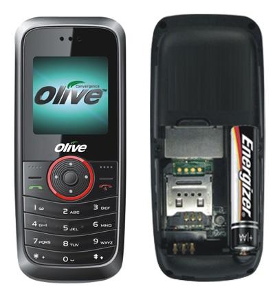 Телефон с питанием от обычной батарейки