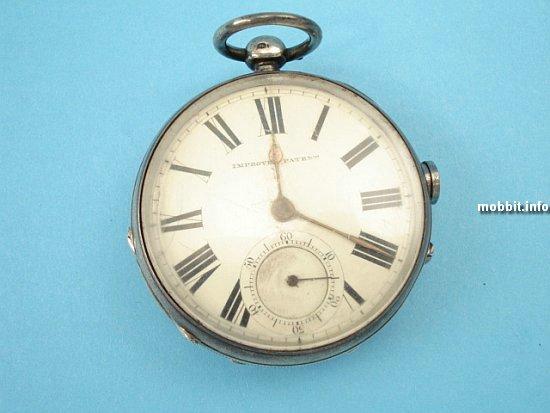 Старинные карманные часы с секретом