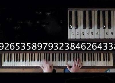 Число Пи, исполненное на пианино
