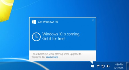 Windows 10 скачивает сама себя на Windows 7 и 8.1