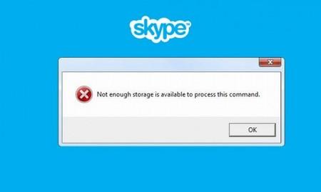 Skype - Недостаточно памяти для обработки команды