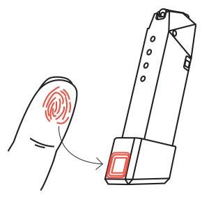Обойма с биометрической аутентификацией