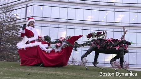 Поздравление с Рождеством от роботов-оленей