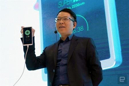 Компания Oppo представила зарядку, способную за 15 минут зарядить телефон на 100%
