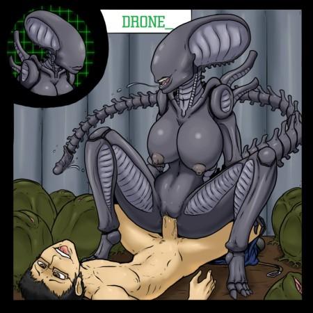 Порно комиксы alien