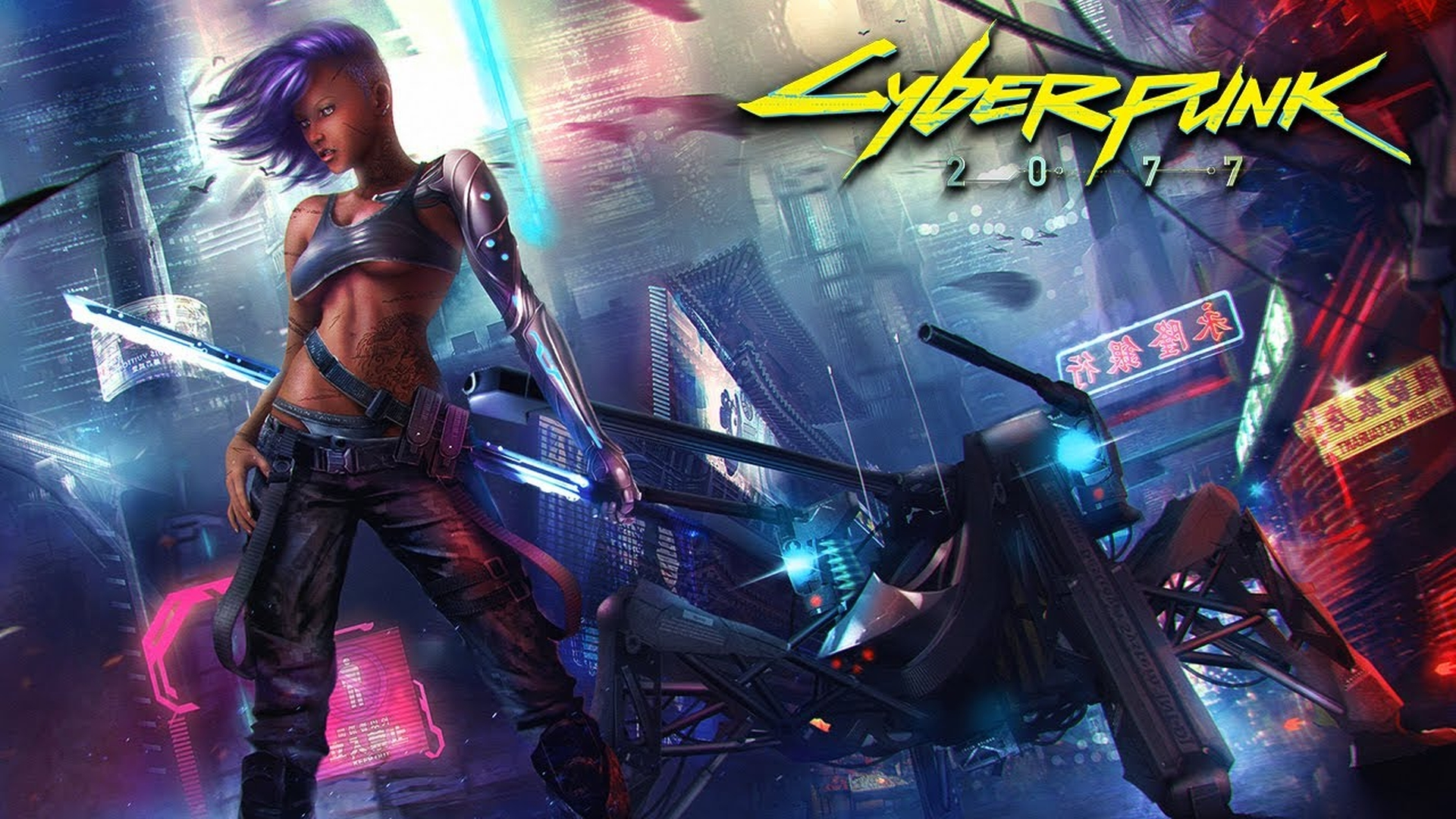 Cyberpunk 2077 is a RPG set in the corrupt and techadvanced world of the year 2077