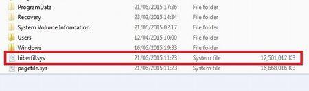 Отключаем и удаляем hiberfil.sys в Windows 7